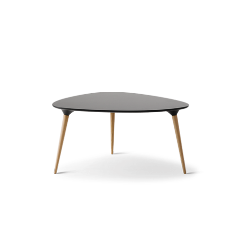 Icicle Triangular - Black triangle end table