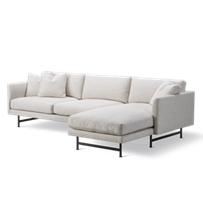 Calmo 3-personers Chaise 80 Metal Base