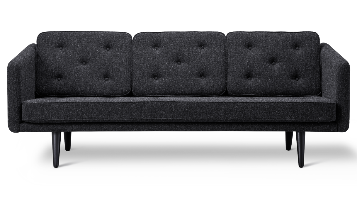 Samt sofa  1 Sofa - 3-seat
