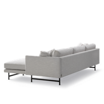 Calmo 3 Seater Chaise 80 Metal Base