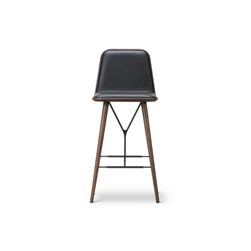 Spine Wood Base Barstool