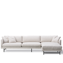 Calmo 3-personers Chaise 95 Metal Base
